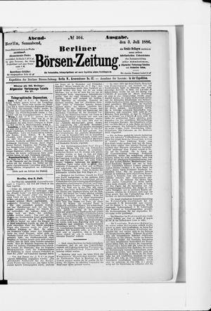 Berliner Börsen-Zeitung vom 03.07.1886
