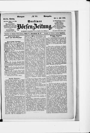 Berliner Börsen-Zeitung vom 04.07.1886
