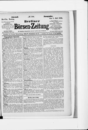 Berliner Börsen-Zeitung vom 05.07.1886
