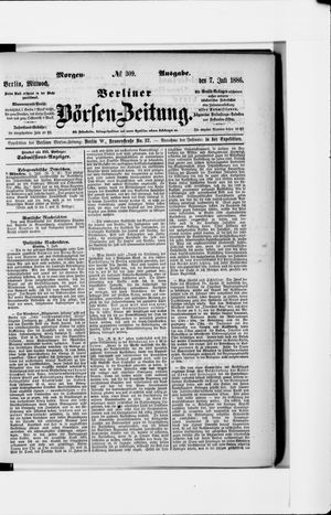 Berliner Börsen-Zeitung vom 07.07.1886