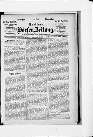 Berliner Börsen-Zeitung vom 10.07.1886