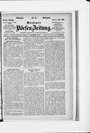 Berliner Börsen-Zeitung vom 11.07.1886