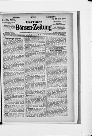 Berliner Börsen-Zeitung vom 12.07.1886