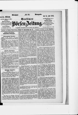 Berliner Börsen-Zeitung vom 14.07.1886