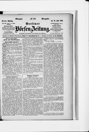 Berliner Börsen-Zeitung vom 18.07.1886
