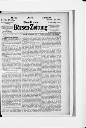 Berliner Börsen-Zeitung vom 20.07.1886
