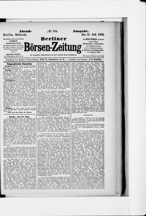 Berliner Börsen-Zeitung vom 21.07.1886