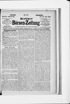 Berliner Börsen-Zeitung vom 22.07.1886