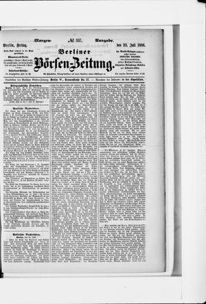 Berliner Börsen-Zeitung vom 23.07.1886