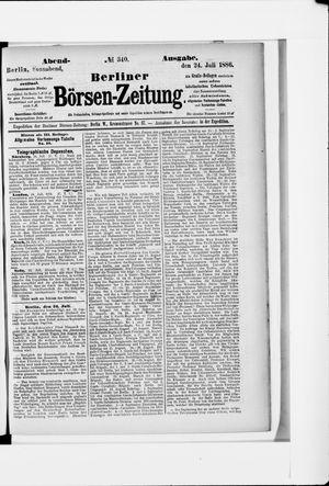 Berliner Börsen-Zeitung vom 24.07.1886