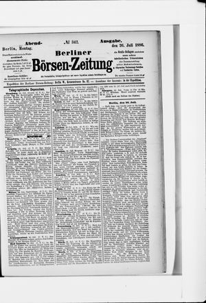 Berliner Börsen-Zeitung vom 26.07.1886