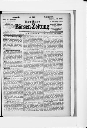 Berliner Börsen-Zeitung vom 27.07.1886
