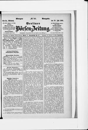 Berliner Börsen-Zeitung vom 28.07.1886