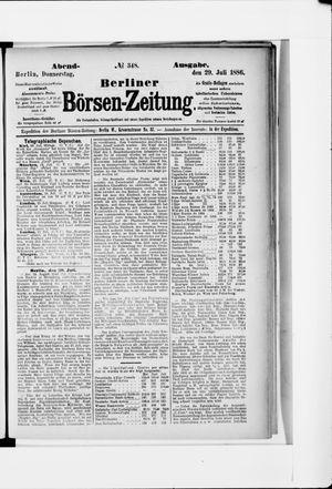 Berliner Börsen-Zeitung vom 29.07.1886