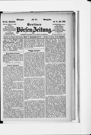 Berliner Börsen-Zeitung vom 31.07.1886