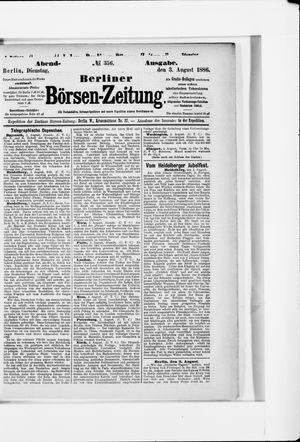 Berliner Börsen-Zeitung vom 03.08.1886