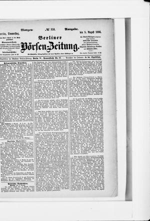 Berliner Börsen-Zeitung vom 05.08.1886
