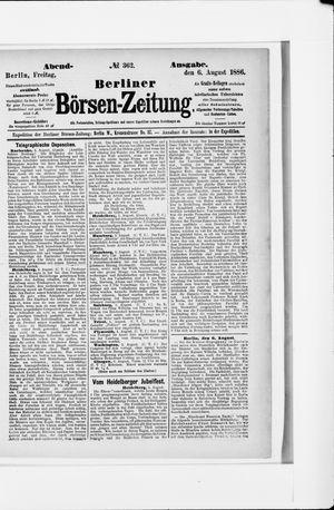 Berliner Börsen-Zeitung vom 06.08.1886