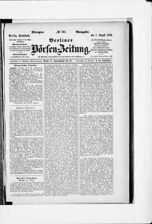 Berliner Börsen-Zeitung vom 07.08.1886
