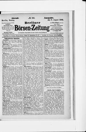 Berliner Börsen-Zeitung vom 09.08.1886
