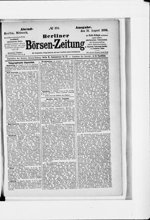Berliner Börsen-Zeitung vom 11.08.1886