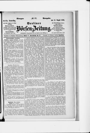 Berliner Börsen-Zeitung vom 12.08.1886