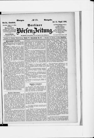 Berliner Börsen-Zeitung vom 14.08.1886