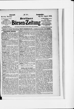 Berliner Börsen-Zeitung vom 16.08.1886