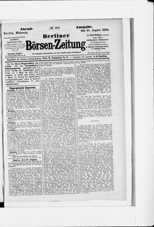 Berliner Börsen-Zeitung vom 18.08.1886