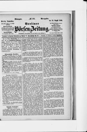 Berliner Börsen-Zeitung vom 19.08.1886