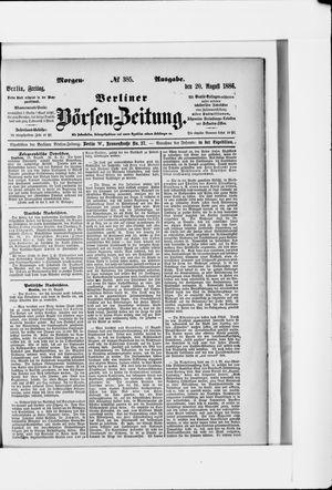Berliner Börsen-Zeitung vom 20.08.1886