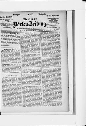 Berliner Börsen-Zeitung vom 21.08.1886