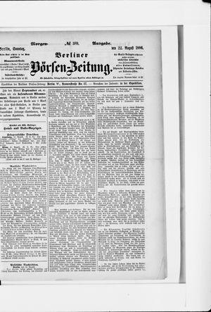 Berliner Börsen-Zeitung vom 22.08.1886