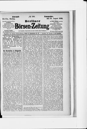 Berliner Börsen-Zeitung vom 23.08.1886