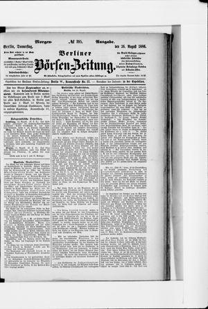 Berliner Börsen-Zeitung vom 26.08.1886