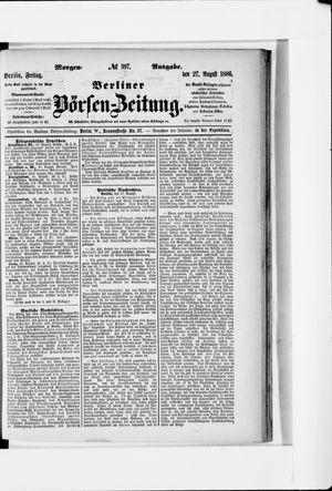 Berliner Börsen-Zeitung vom 27.08.1886