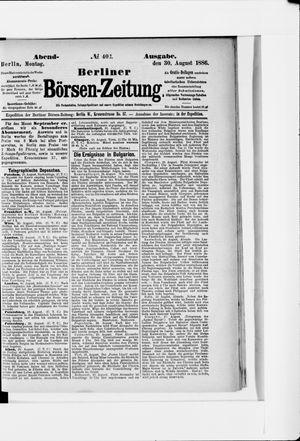 Berliner Börsen-Zeitung vom 30.08.1886