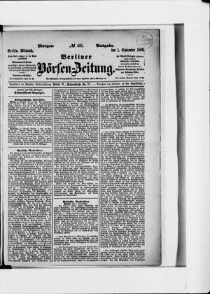 Berliner Börsen-Zeitung vom 01.09.1886