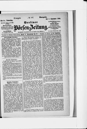 Berliner Börsen-Zeitung vom 02.09.1886