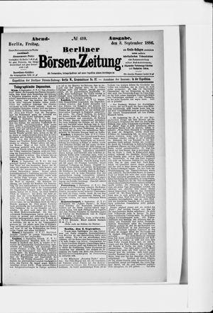 Berliner Börsen-Zeitung vom 03.09.1886
