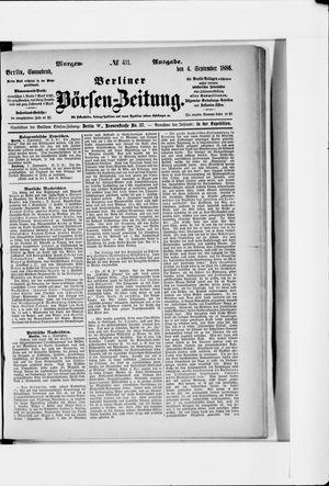 Berliner Börsen-Zeitung vom 04.09.1886