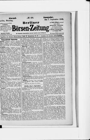 Berliner Börsen-Zeitung vom 07.09.1886
