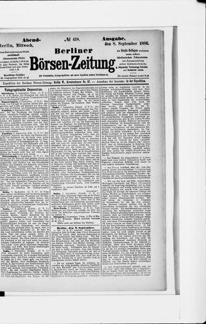 Berliner Börsen-Zeitung vom 08.09.1886