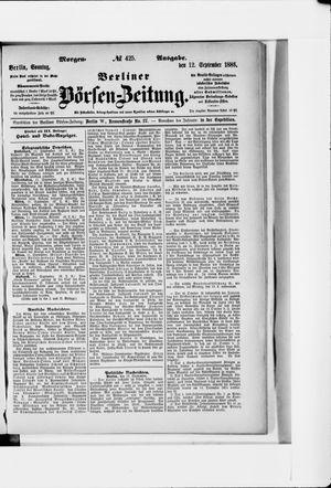 Berliner Börsen-Zeitung vom 12.09.1886