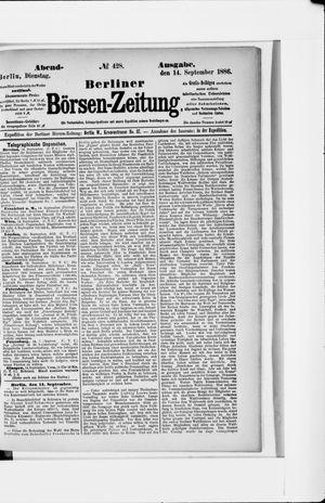 Berliner Börsen-Zeitung vom 14.09.1886