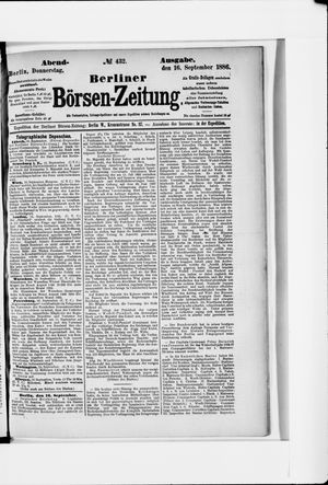 Berliner Börsen-Zeitung vom 16.09.1886