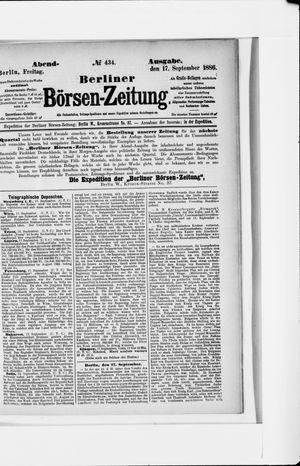 Berliner Börsen-Zeitung vom 17.09.1886