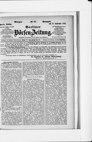 Berliner Börsen-Zeitung vom 19.09.1886