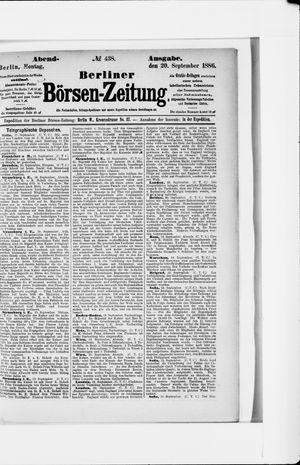 Berliner Börsen-Zeitung vom 20.09.1886