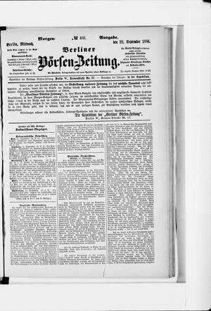 Berliner Börsen-Zeitung vom 22.09.1886